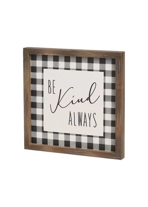 Be Kind Framed Sign