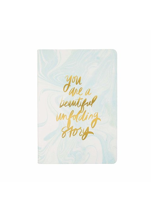 You Are a Beautiful Unfolding Story Mint Marble Journal