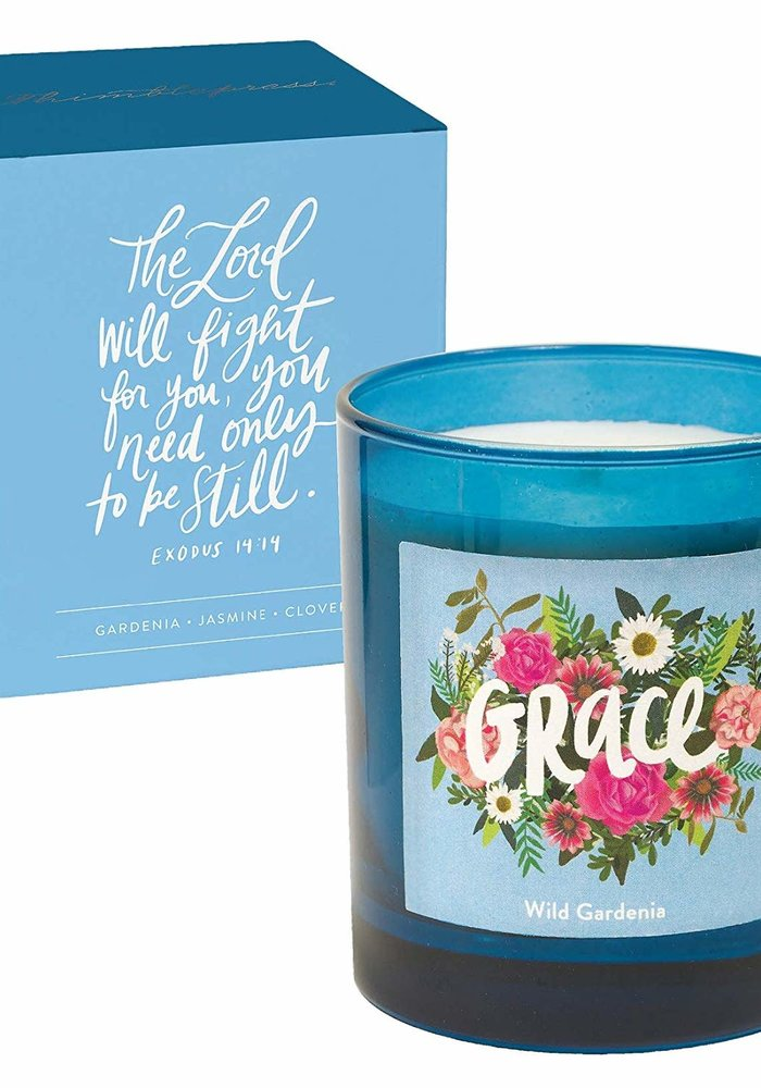 """""""Grace"""" Glass Inspirational Candle"""