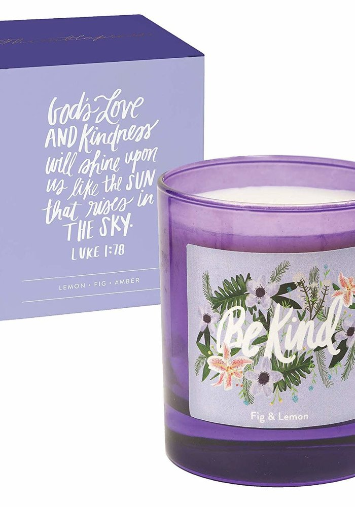 """Be Kind"" Glass Inspirational Candle"