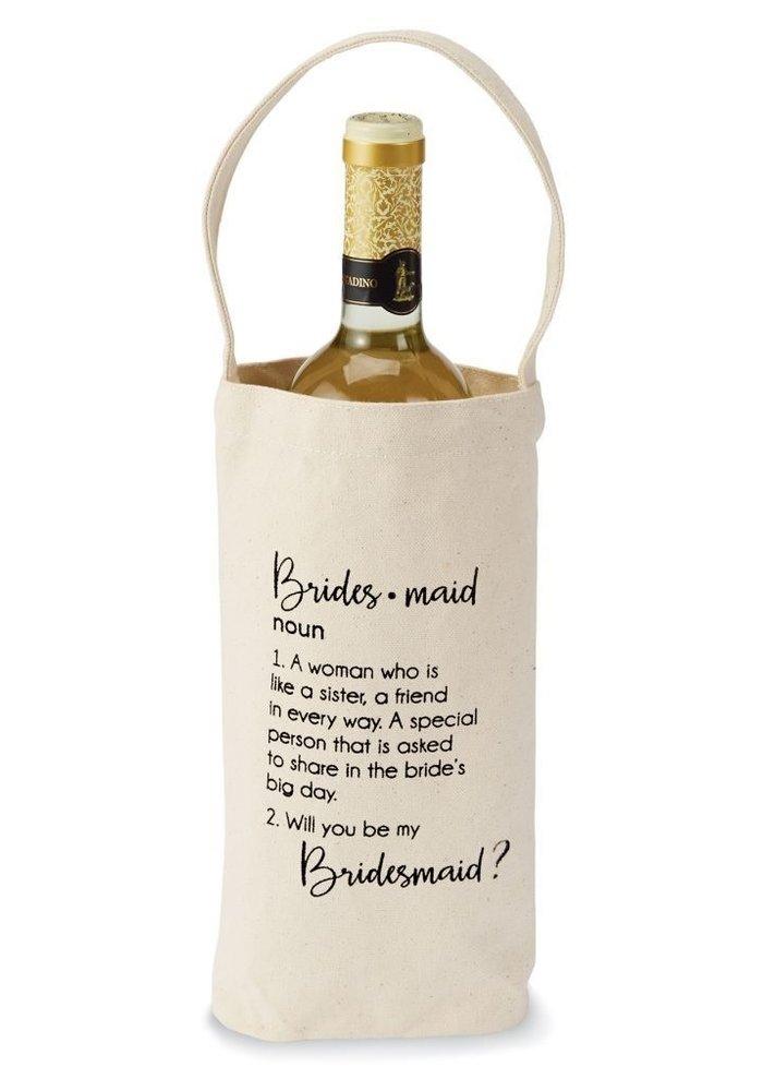 Bridesmaid Definition/Ask Wine Bag