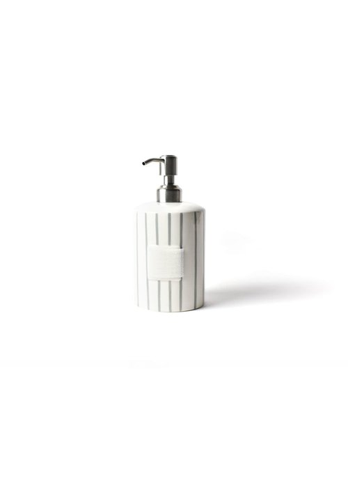Happy Everything Stone Skinny Stripe Mini Cylinder Soap Pump