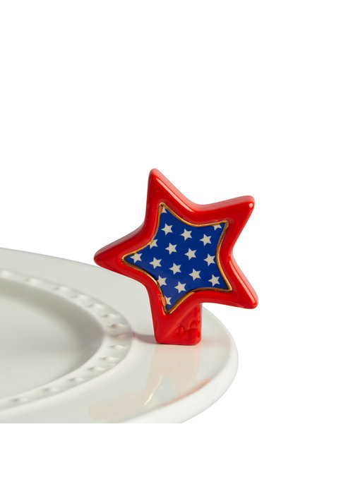 Nora Fleming Sparkly Star Red White Blue Nora Fleming Mini