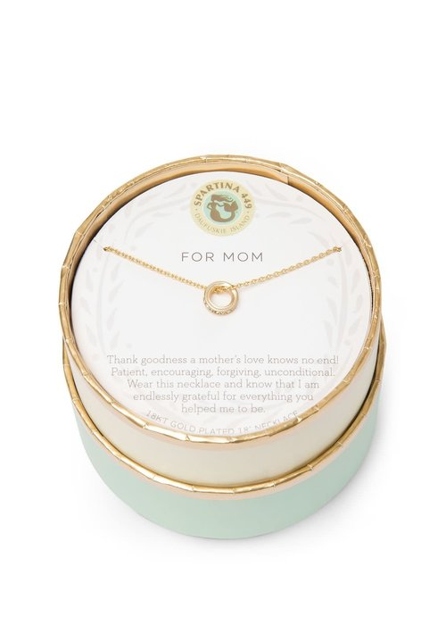 "Spartina 449 ""For Mom"" Gift Message Necklace"