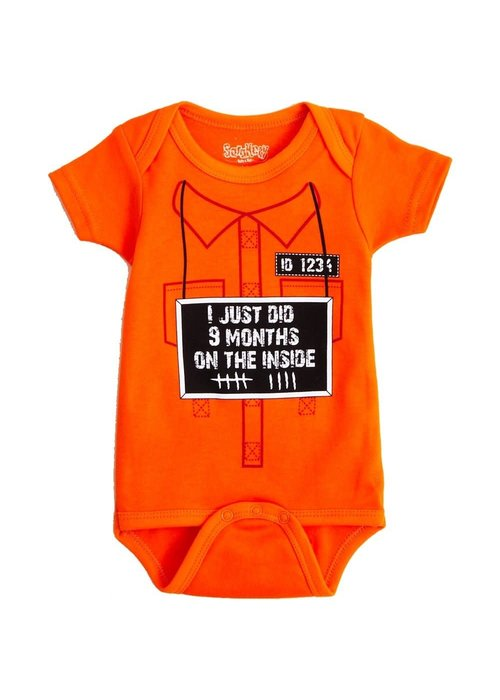 """9 Months On the Inside"" Onesie"