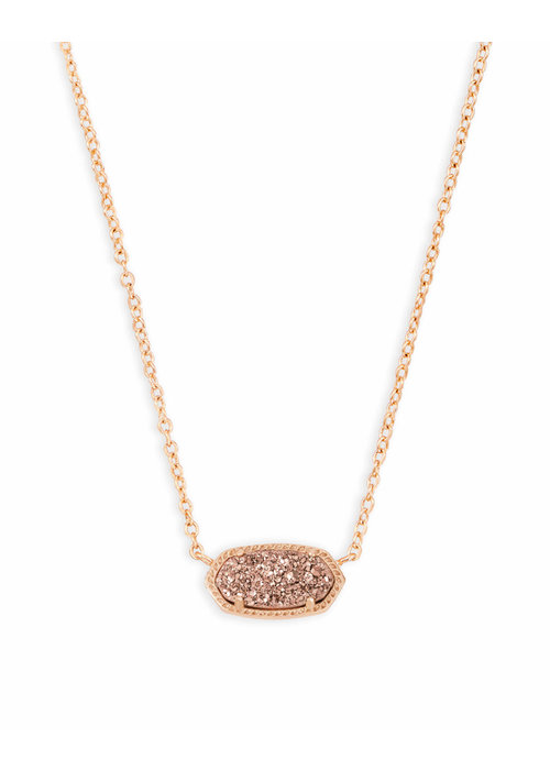 Kendra Scott Elisa Necklace Rose Gold Metal