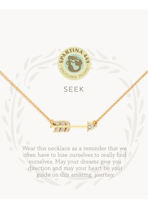"Spartina 449 Sea La Vie ""Seek"" Gift Message Necklace"