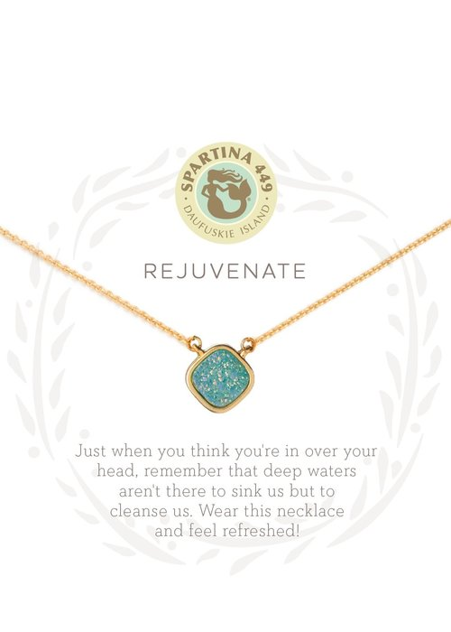 "Spartina 449 Sea La Vie ""Rejuvenate"" Gift Message Necklace"