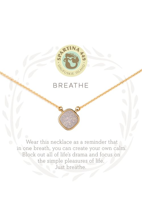 "Spartina 449 Sea La Vie ""Breathe"" Gift Message Necklace"
