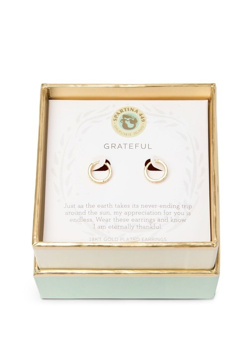 "Spartina 449 Sea La Vie ""Grateful"" Gift Message Earrings"