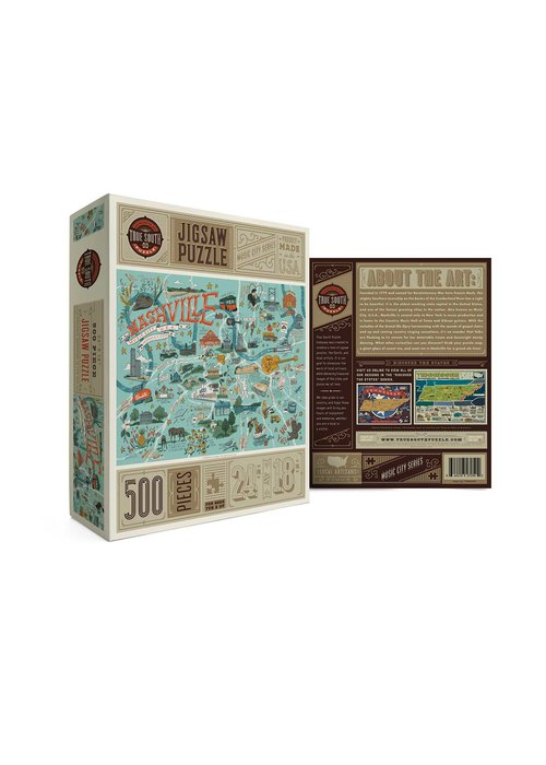 True South Puzzle Company Nashville Illustrated Puzzle