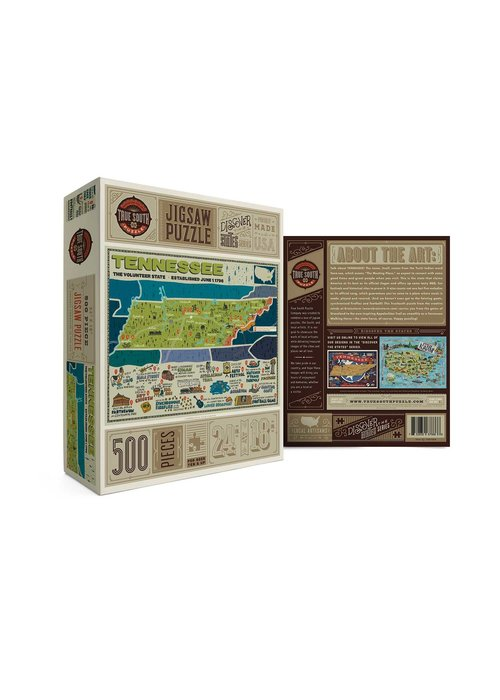 True South Puzzle Company Tennessee State Puzzle