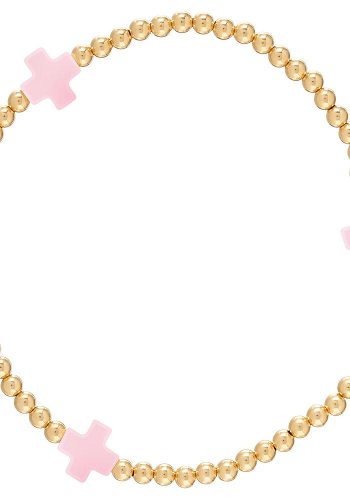 Signature Cross Pattern 3mm Bead Bracelet