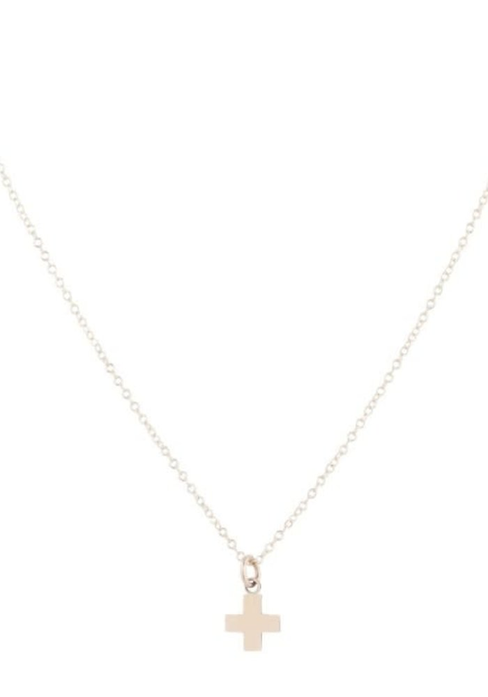 """16"""" Necklace Gold Signature Cross Gold Charm"""