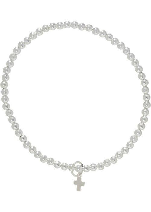 Enewton Classic Beaded Bracelet Believe Charm