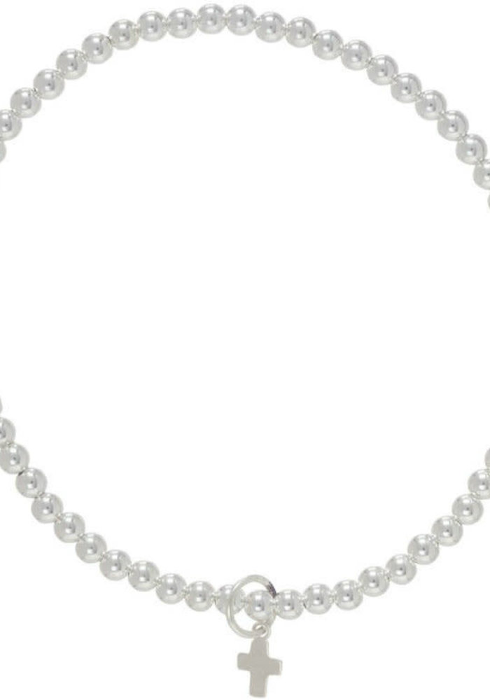 Classic Beaded Bracelet Believe Charm