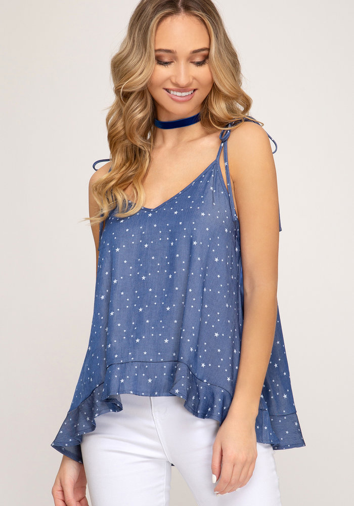 Chambray Star Camisole