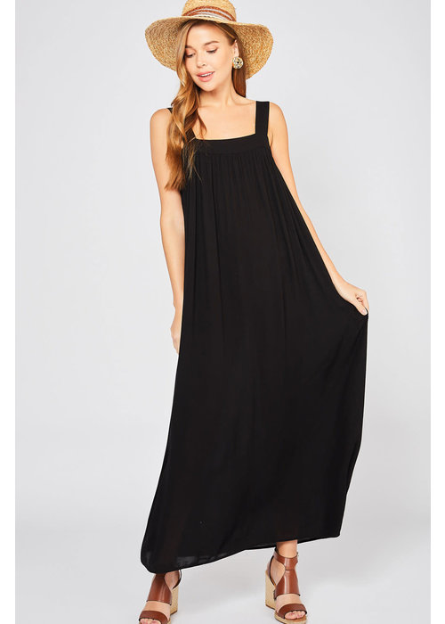 Black Maxie Tie-Back Dress