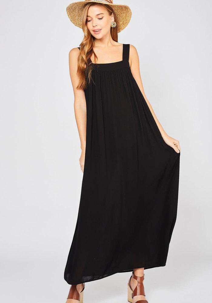 Black Maxie Tie-Back Dress
