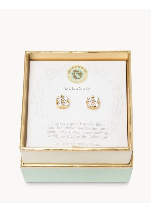 "Spartina 449 Sea La Vie ""Blessed"" Gift Message Earrings"