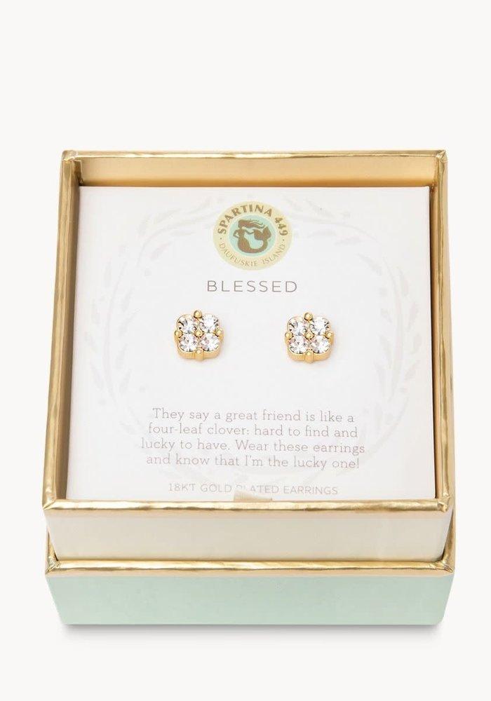 "Sea La Vie ""Blessed"" Gift Message Earrings"