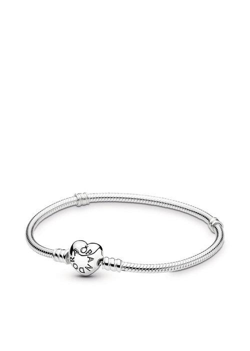 Pandora Silver Heart Clasp Bracelet