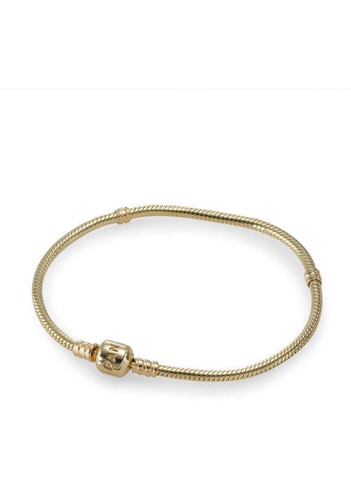 Pandora 14K Gold Clasp Charm Bracelet