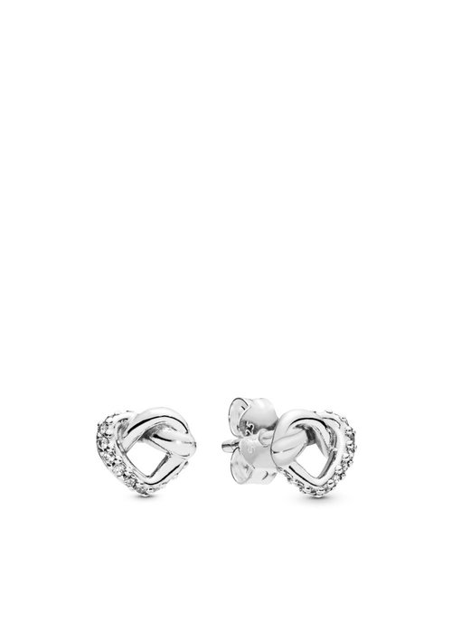 Pandora Knotted Hearts Studs