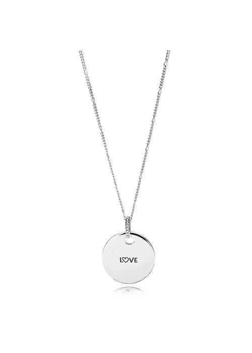 Pandora Love Engraved Necklace