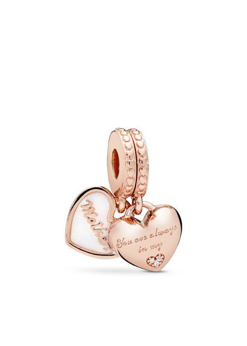 Pandora Mother & Daughter Hearts Dangle Charm, PANDORA Rose™