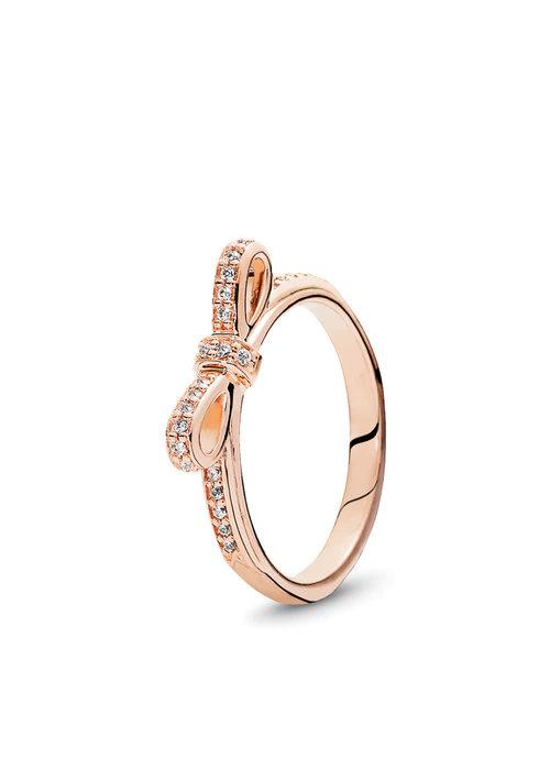 Pandora Sparkling Bow Ring, PANDORA Rose™
