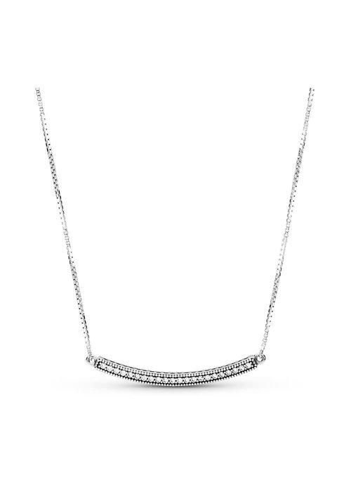 Pandora Hearts of Pandora Bar Necklace