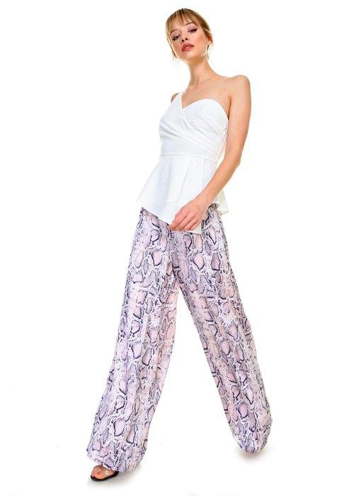 Pink/Navy Snake Skin Pants