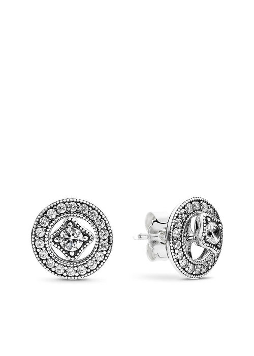 Pandora Vintage Allure Earrings, Clear CZ