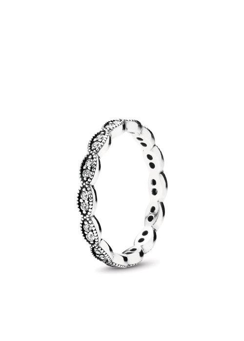 Pandora Sparkling Leaves Ring
