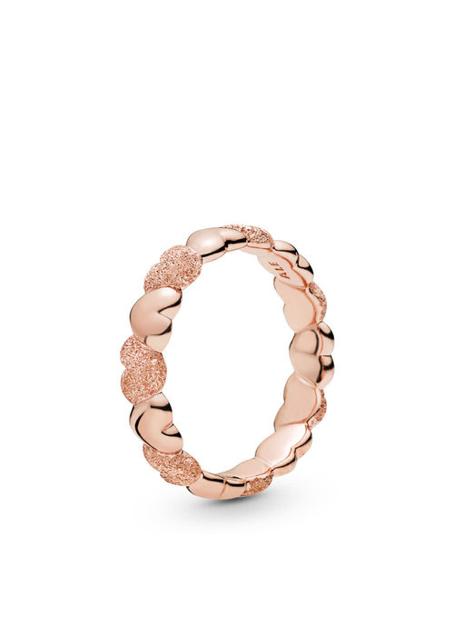 Pandora Matte Brilliance Hearts Ring, Pandora Rose™
