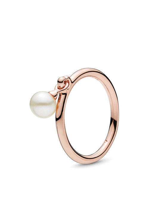Pandora Contemporary Pearl Ring, PANDORA Rose™ & Freshwater Cultured Pearl