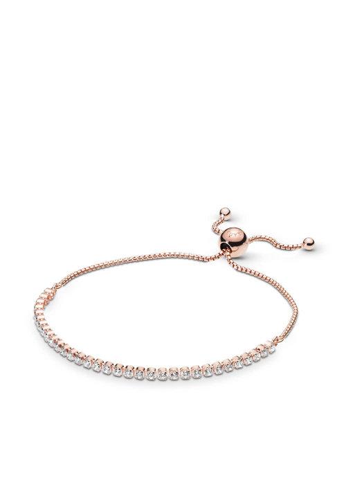 Pandora Sparkling Strand Bracelet, PANDORA Rose™