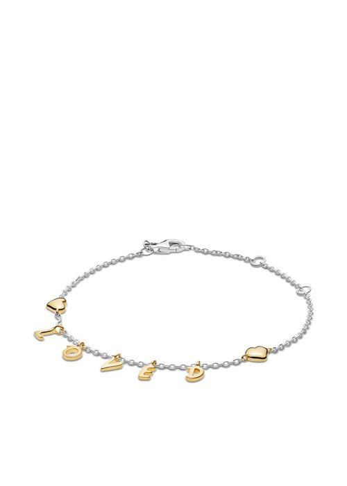 Pandora Loved Script Bracelet, PANDORA Shine™