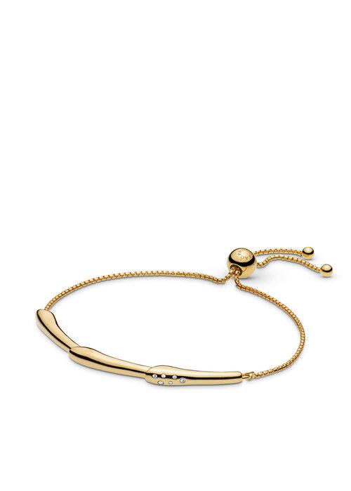Pandora Flower Stem Sliding Bangle Bracelet, Pandora Shine™