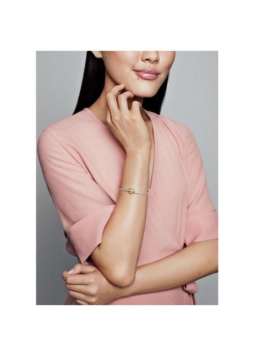Pandora Sterling Silver Bracelet w/ PANDORA Shine™ Heart Clasp