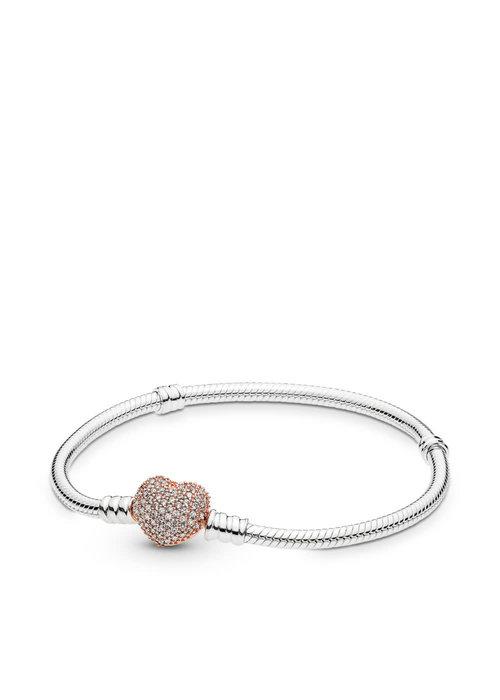 Pandora Sterling Silver Bracelet, PANDORA Rose™ Pavé Heart Clasp