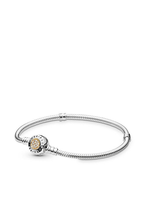Pandora PANDORA Signature Bracelet Two-Tone 14K Gold, Clear CZ