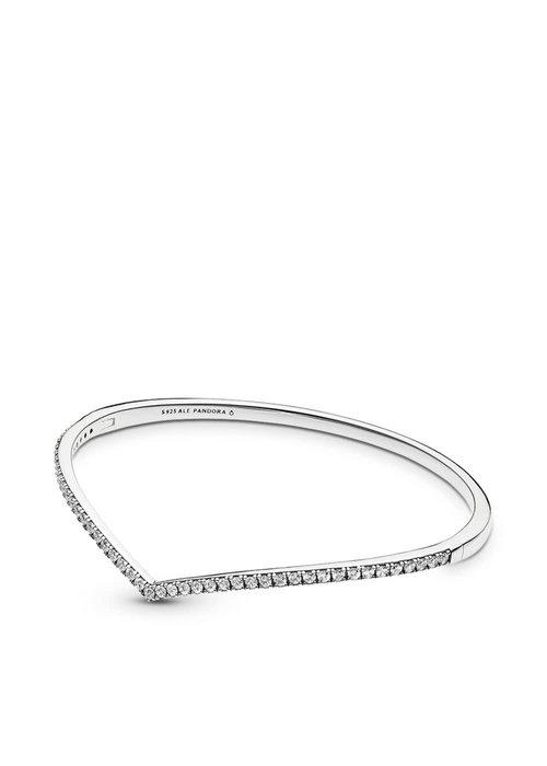 Pandora Shimmering Wish Bangle Bracelet, Clear CZ