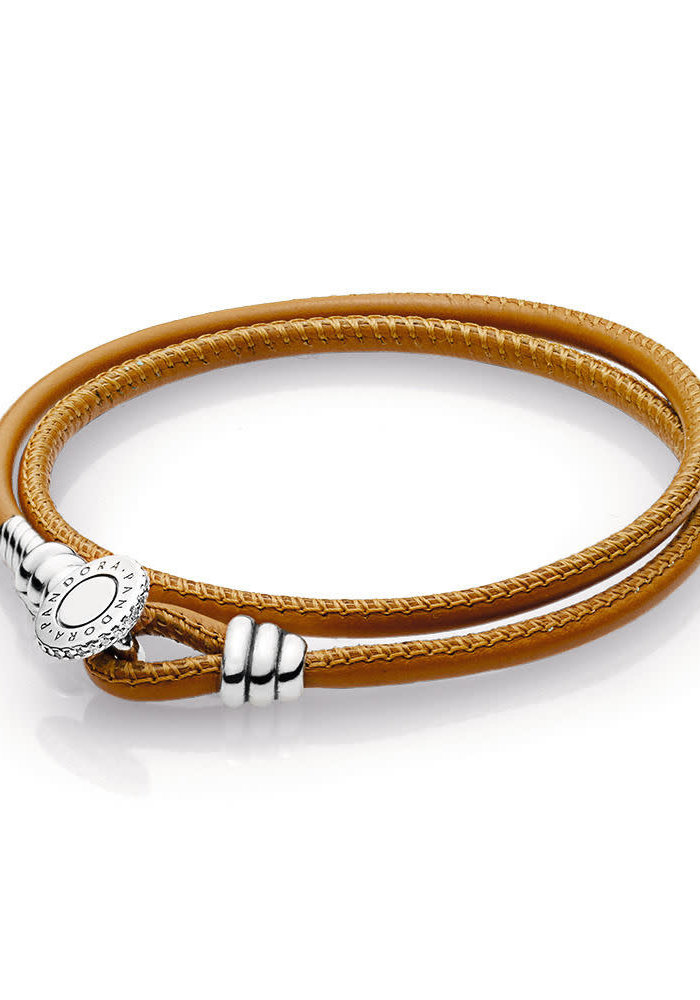Golden Tan Double Leather Bracelet