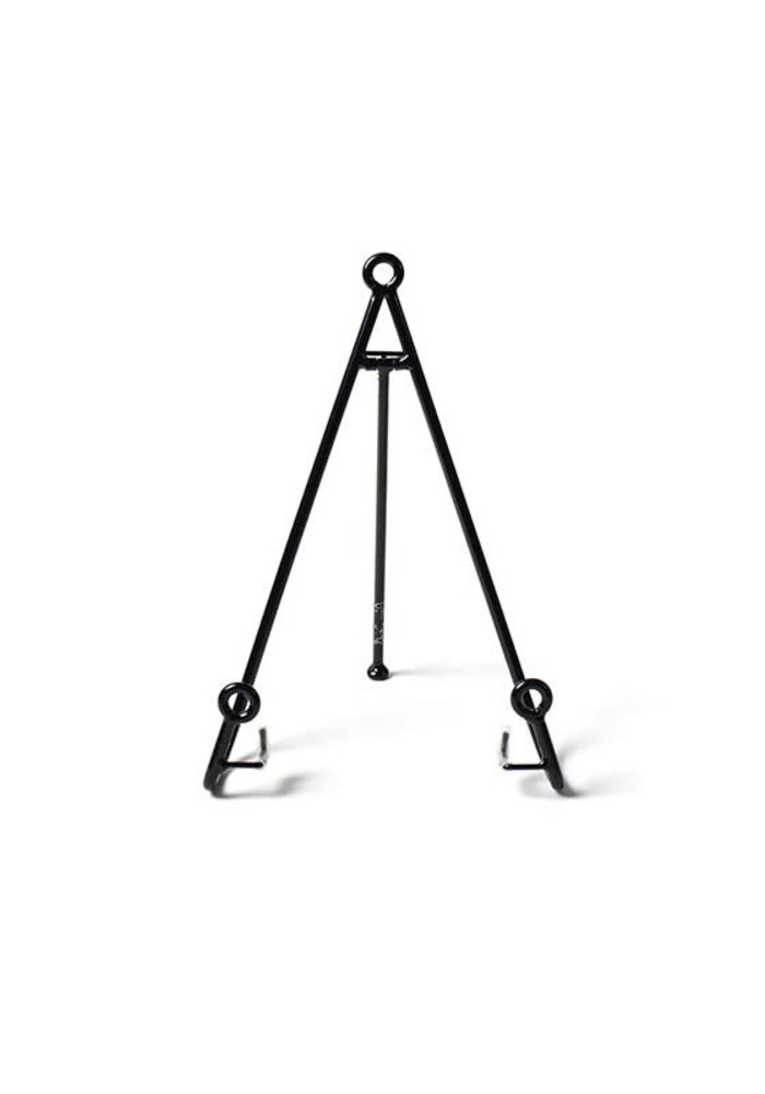 Large Loop Plate Stand Black