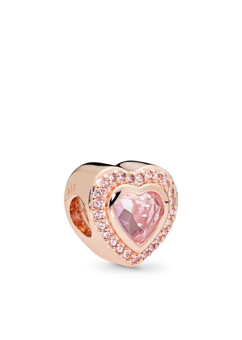 Pandora Sparkling Love Charm, PANDORA Rose™ & Pink Crystal