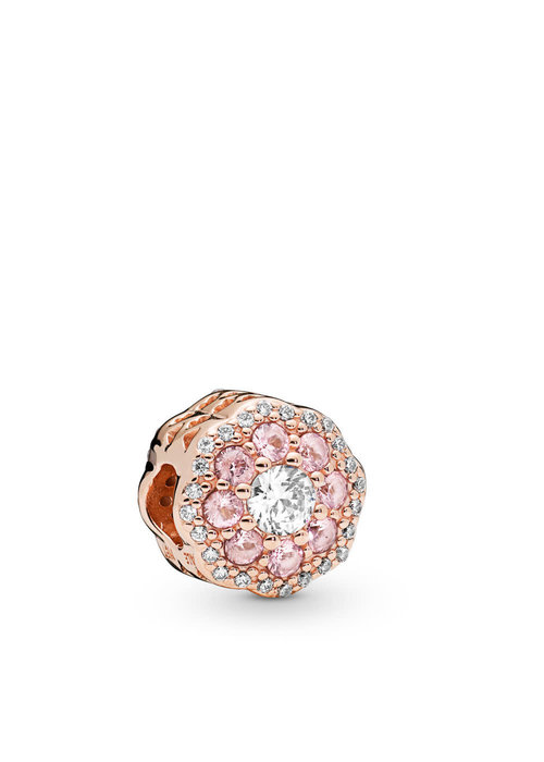 Pandora Pink Sparkle Flower Charm, PANDORA Rose™