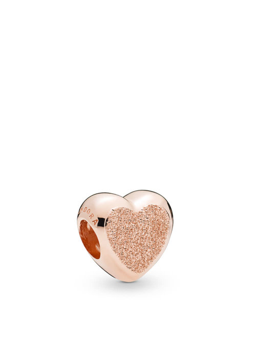 Pandora Matte Brilliance Heart Charm, PANDORA Rose™