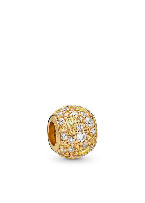 Pandora Golden Mix Pavé Charm, PANDORA Shine™ & Multi-Colored CZ